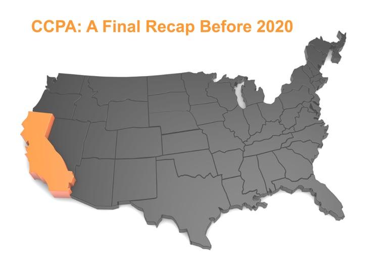 CCPA a Final Recap