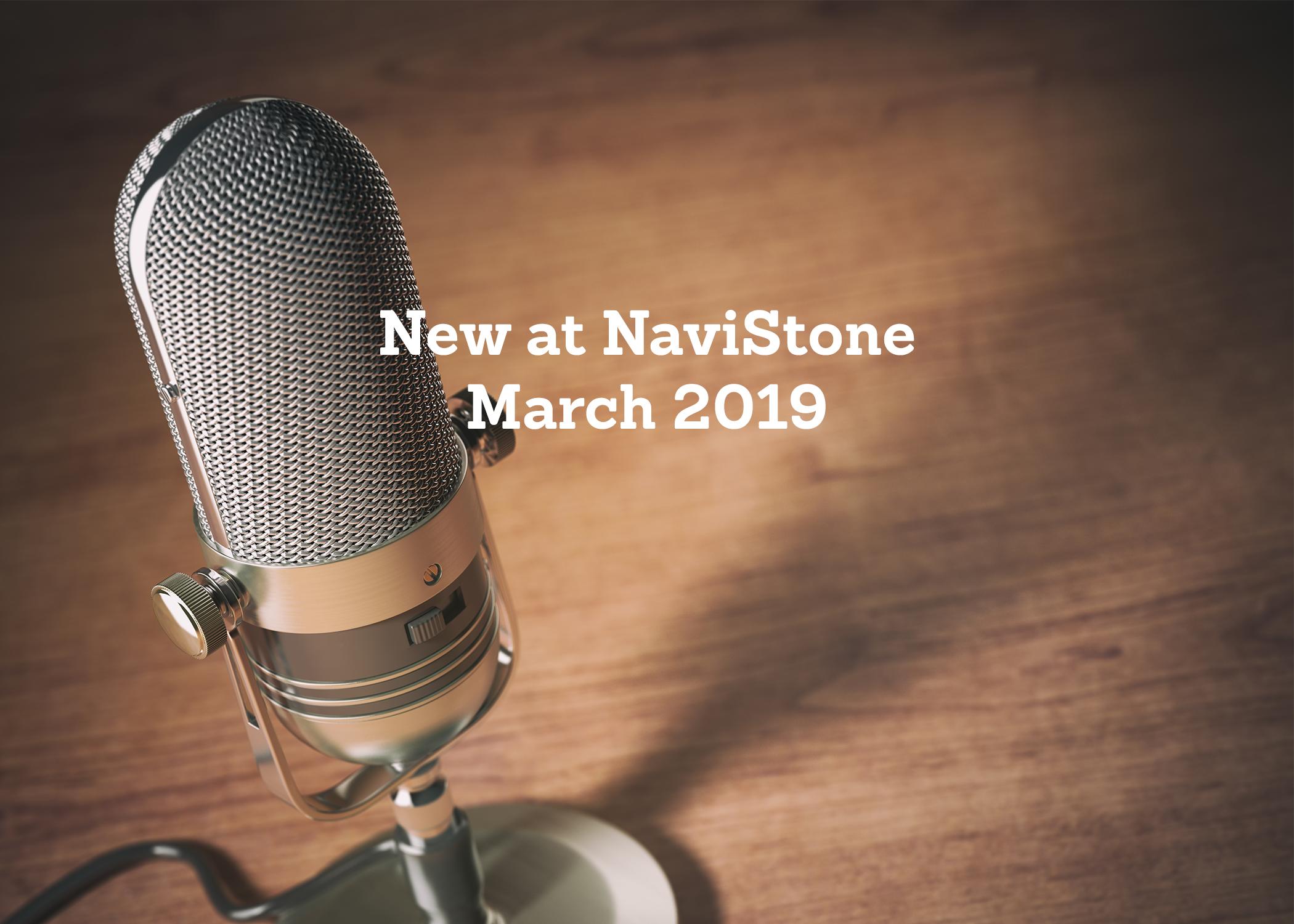 New at NaviStone March 2019
