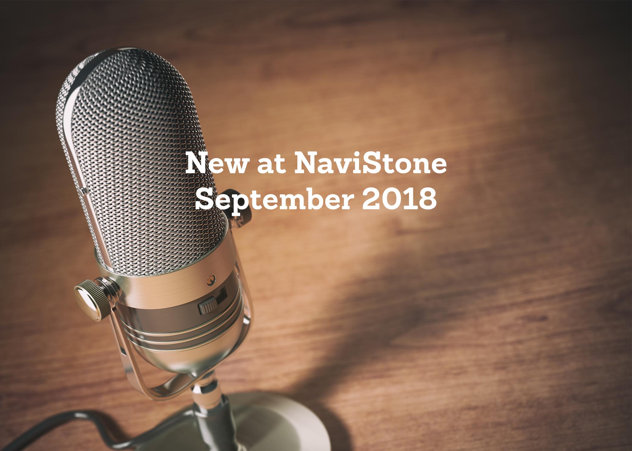 New at NaviStone September